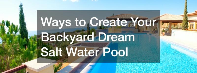 backyard dream pools